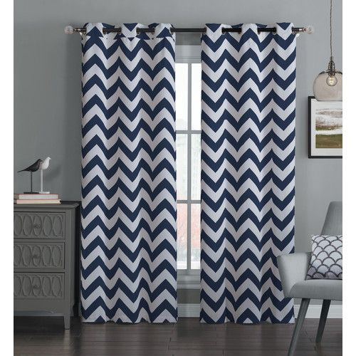 Brockham Room Darkening Thermal Grommet Curtain Panels Set Of 2