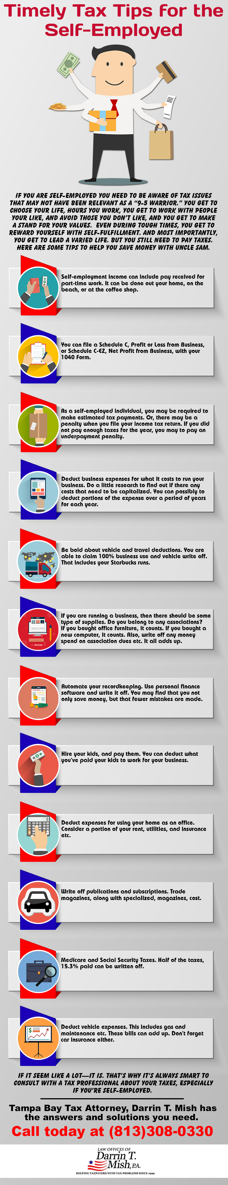 Timely Tax Tips for the Self Employed #Infographics