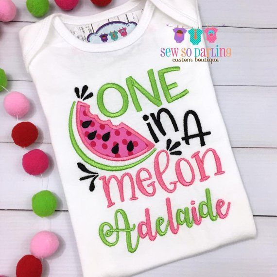 bc5c2a0e6 One in a Melon birthday shirt - 1st birthday watermelon outfit girl - girl  watermelon birthday shirt - One in a melon outfit - pink green
