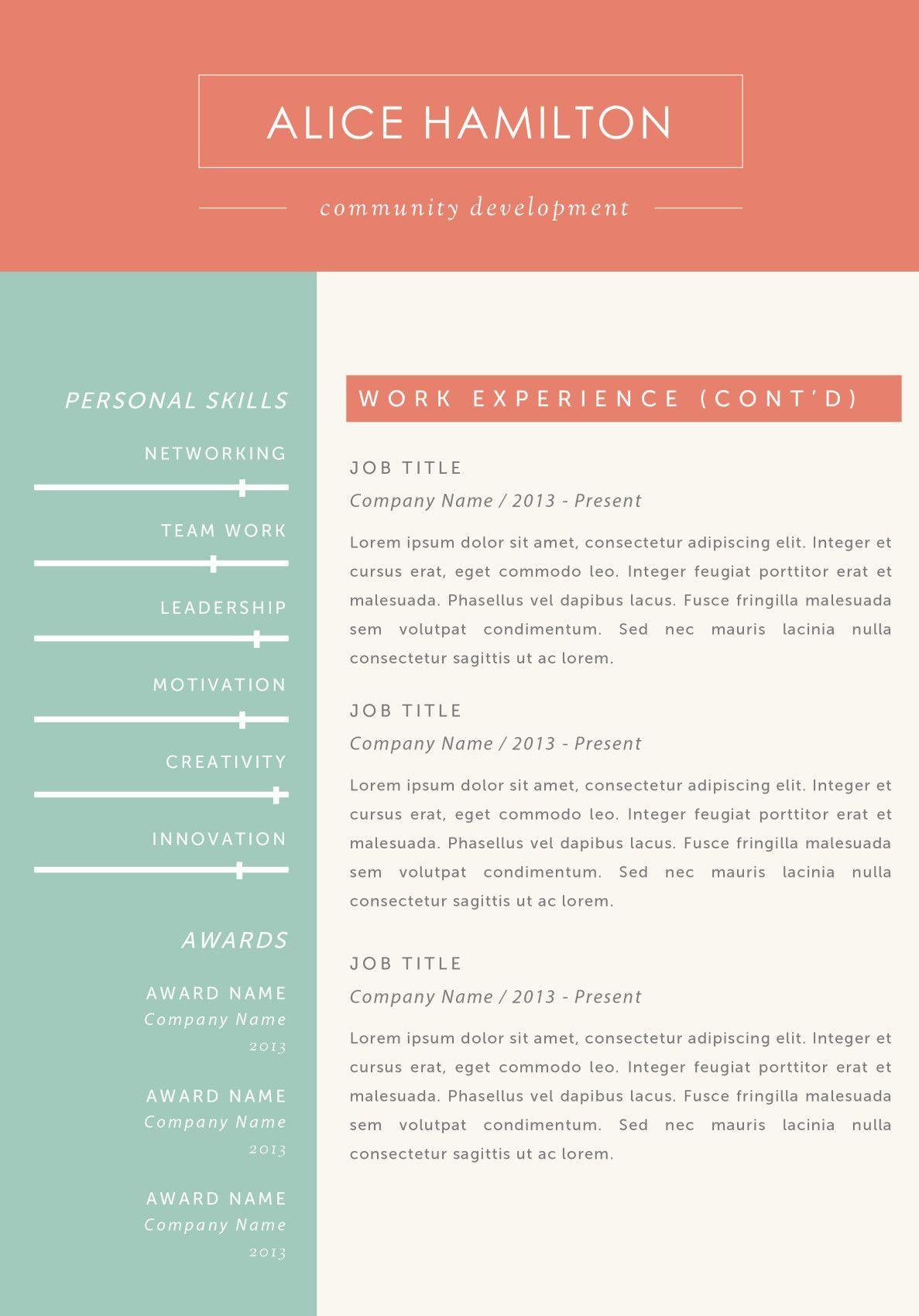 Alice hamilton resume_a4 2 job resume examples resume