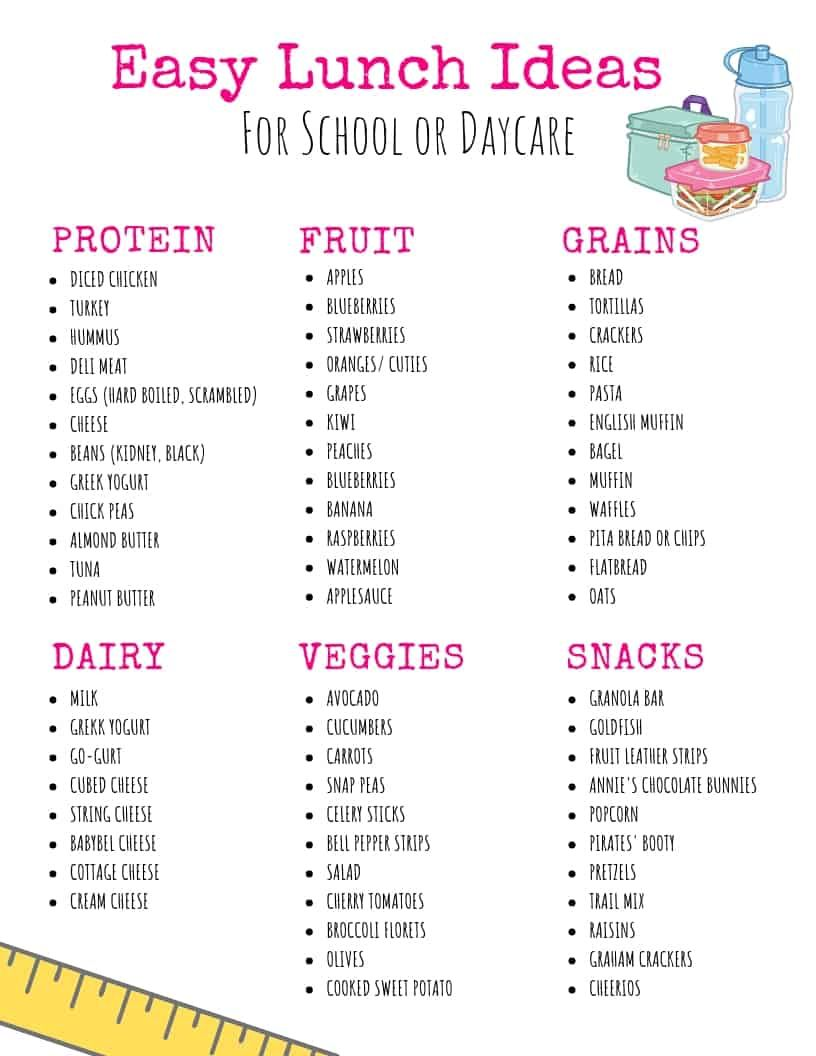 12 On the Go Toddler Lunch Ideas for Daycare or Preschool #bentoboxlunch