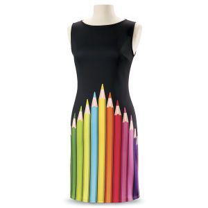 071d7e34d7a Pencil Box Dress from The Pyramid Collection, $79.95 A black dress  featuring colored pencils? Oh yes, please!