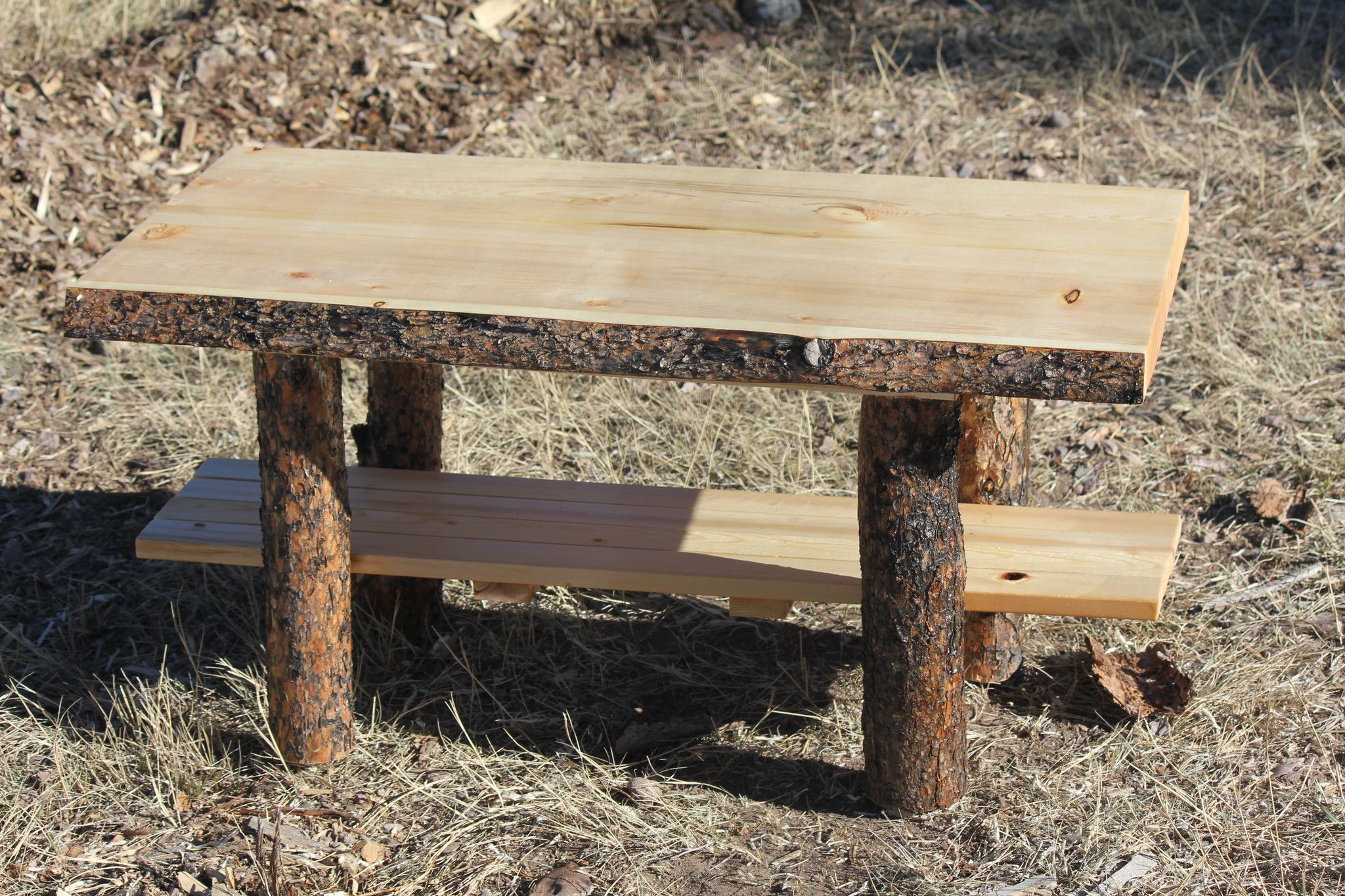 Rustic Log Coffee Table - Cabin Lodge Country