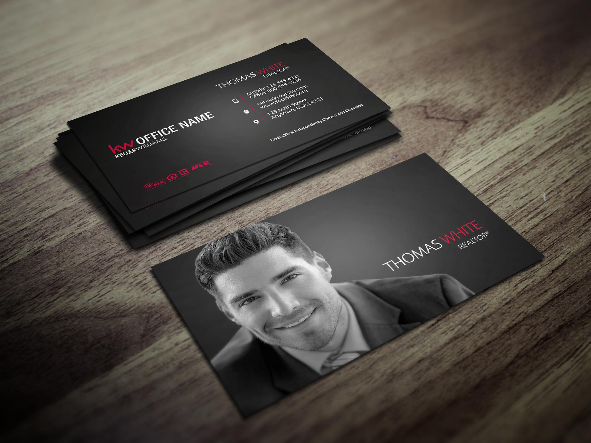 New Sleek Business Card Designs Are Here For Keller Williams Realtors Realtor Kellerwilliams Keller Williams Business Cards Business Card Design Card Design