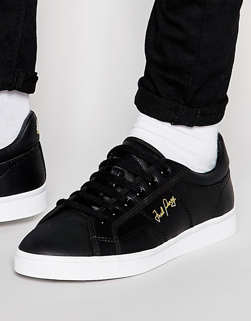 Image 1 of Fred Perry Sidespin Leather Trainers