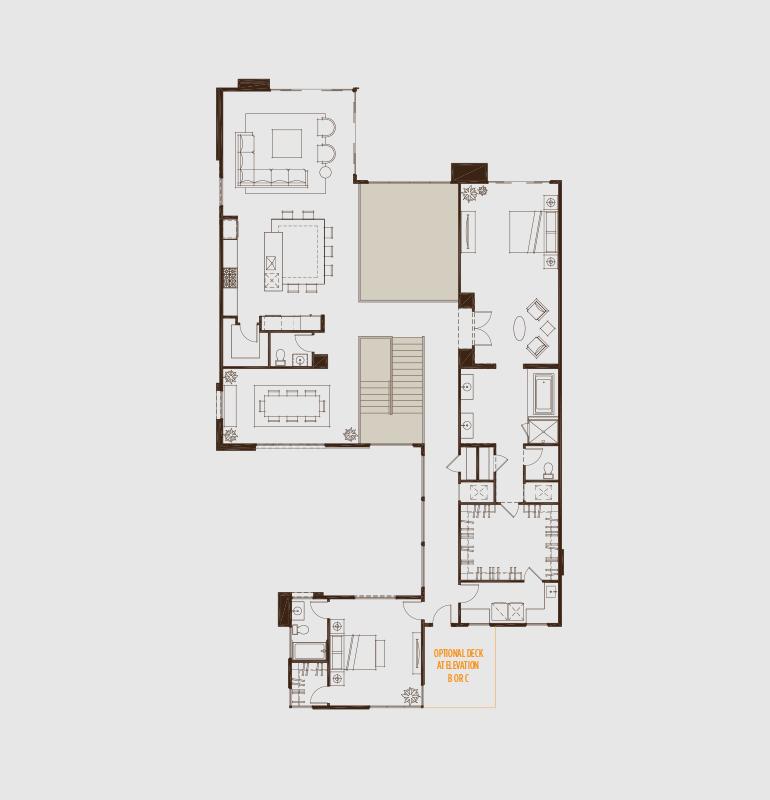 Sky Terrace Blue Heron Floor Plans Custom Homes Second Floor