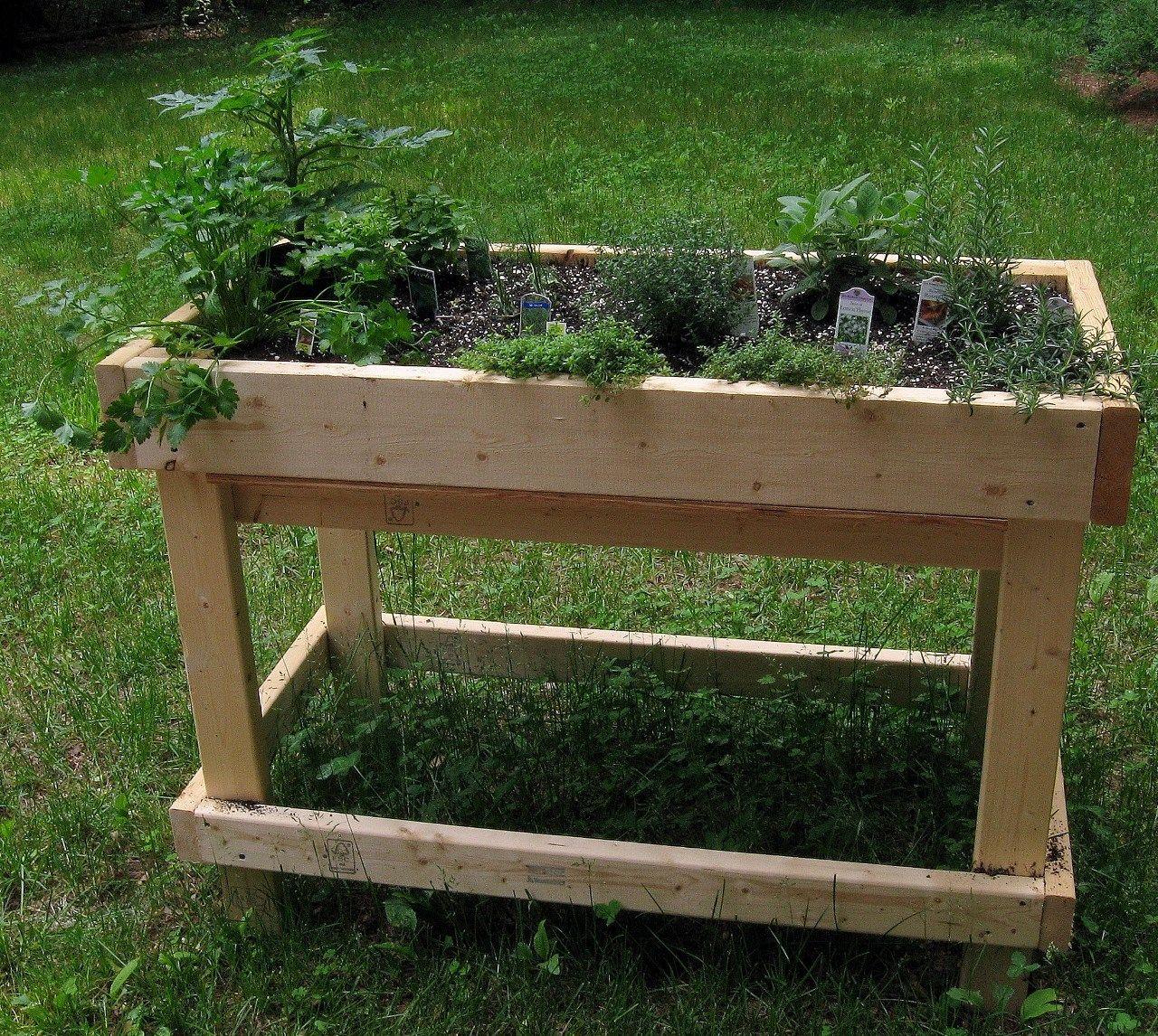 pour construire un bac aromatiques qui ressemble celui ci cliquez ici jardinage. Black Bedroom Furniture Sets. Home Design Ideas