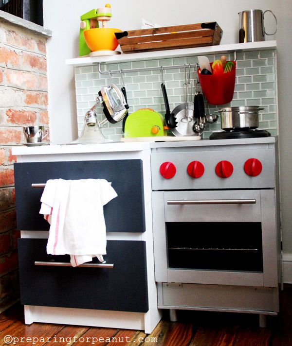 Marvelous Diy Play Kitchen Uses Plethora Of Parts Panyl Is The Easiest Fastest Est Way To Customize Ikea Expedit Malm Besta Billy Ekby Kura