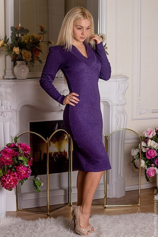 Темно-фиолетовое платье купить