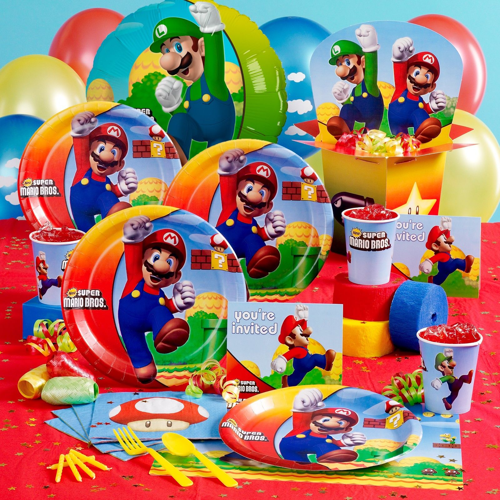 Mario Brothers Party Ideas Features Beautiful Colorful Display And Provide