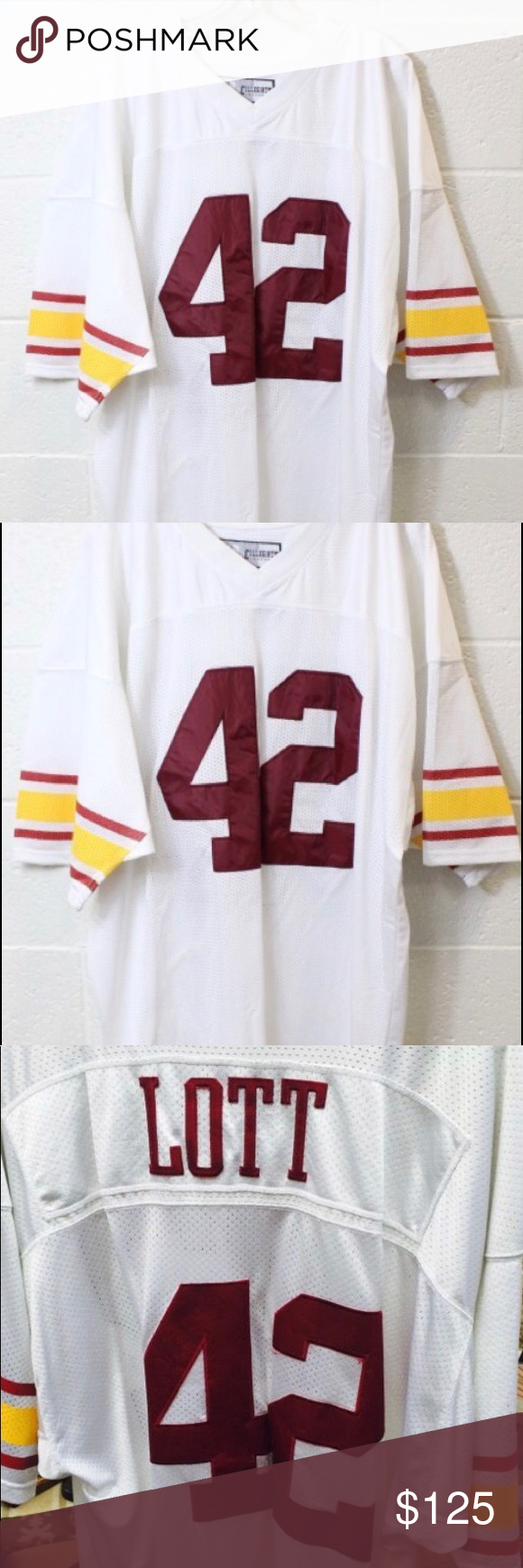 888e9cbf2 USC Ronnie Lott Jersey  42 Ronnie Lott Russell Athletic Size 56 USC Jersey Russell  Athletic Other