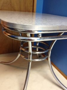 Reduced Retro 50s Chrome Dining Table Saskatoon Furniture For