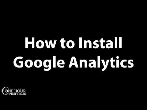 How to Install Google Analytics on Wordpress - YouTube
