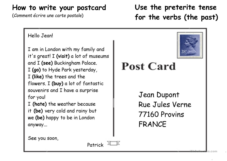 Imagini pentru how to write a postcard | English Teaching&Learning ...