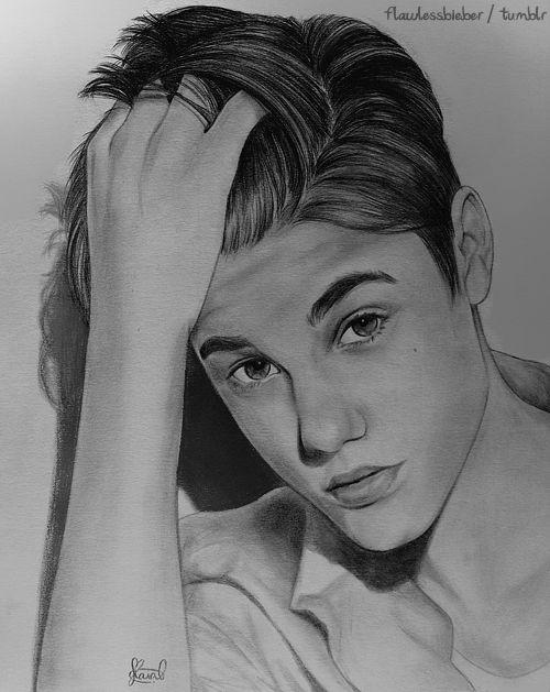 Justin Bieber Sketches Retratos Arte Femenino Dibujos