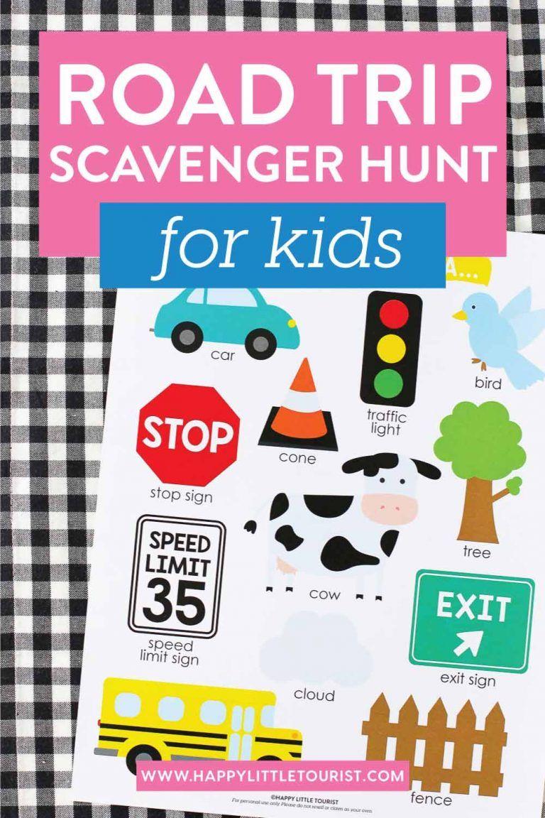Printable Road Trip Scavenger Hunt for Kids Road trip