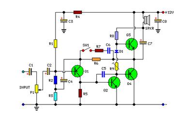 2 watt audio amplifier circuit diagram electronics audio