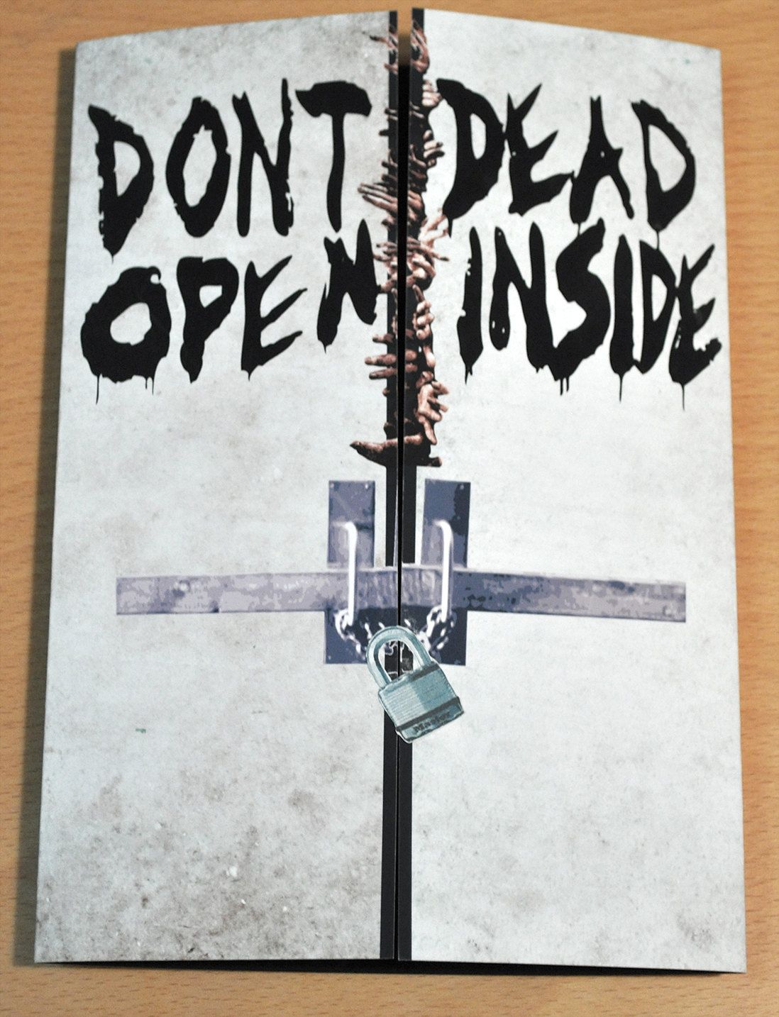 Walking dead birthday card dont open dead inside central florida walking dead birthday card dont open dead inside m4hsunfo