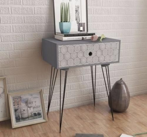 details about vintage bedside cabinet with 1 drawer living room furniture hall stand telephone