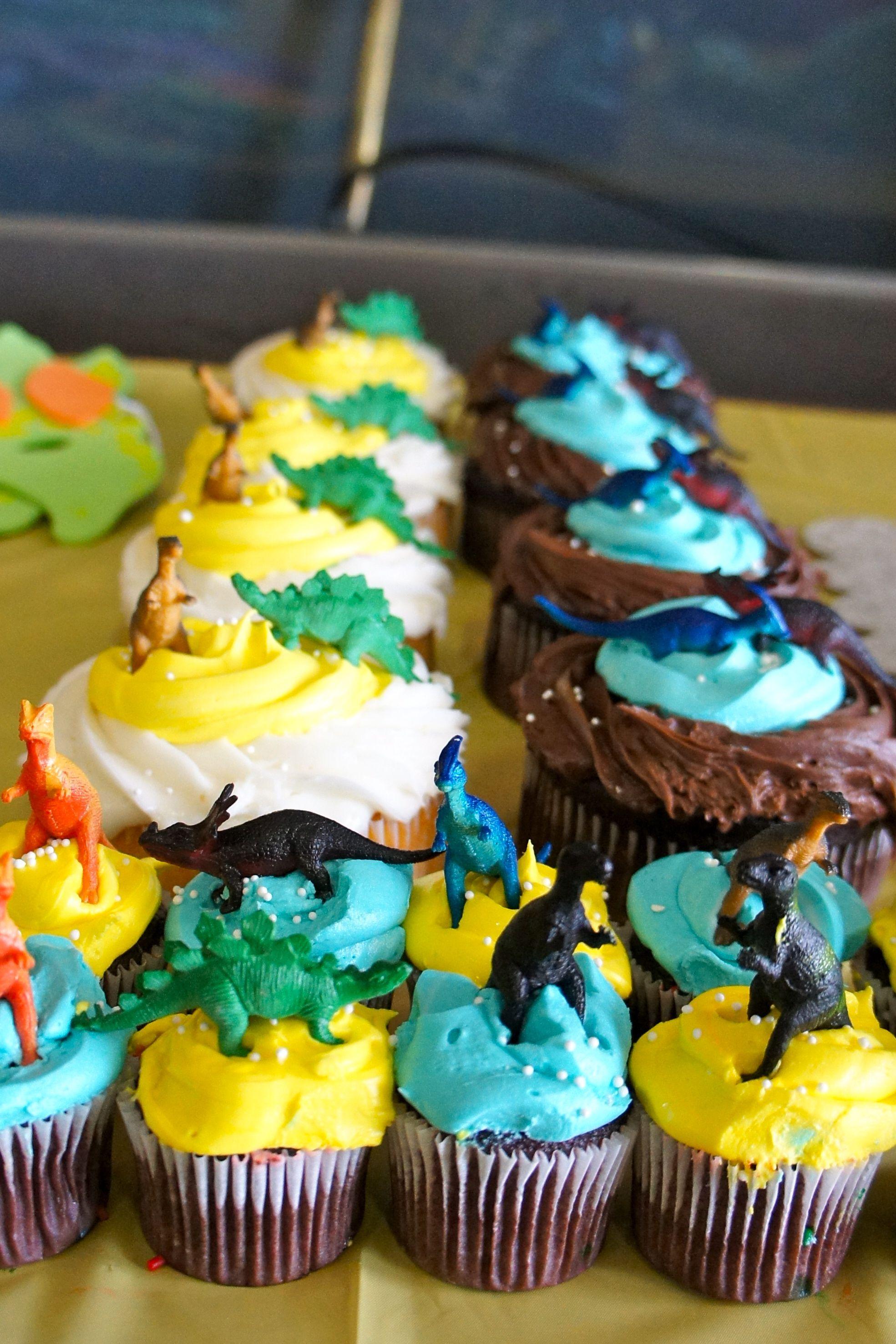 Dinosaur Train Birthday Party Cupcakes