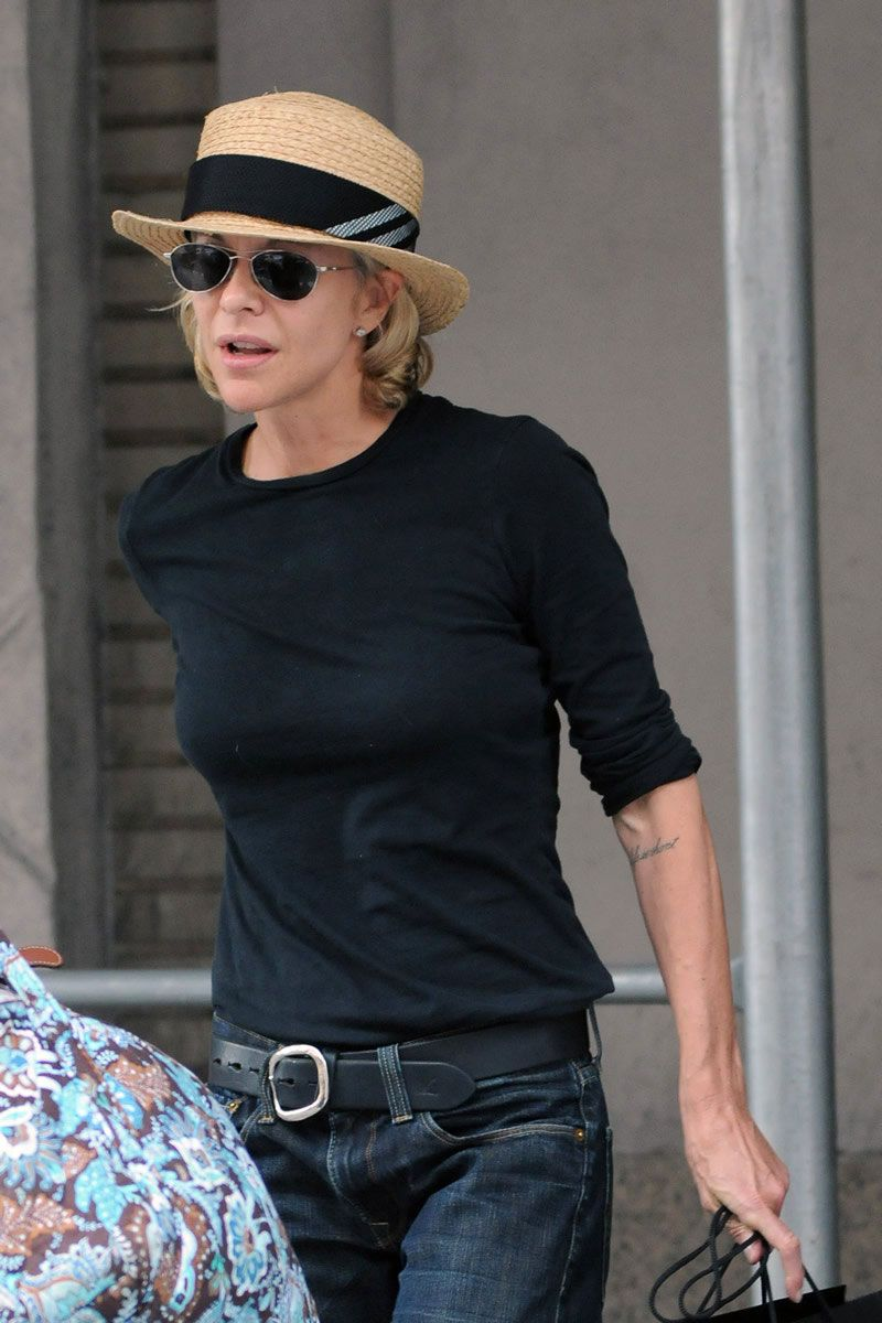 Meg Ryan Out And About In New York 2017 Fashion Denim