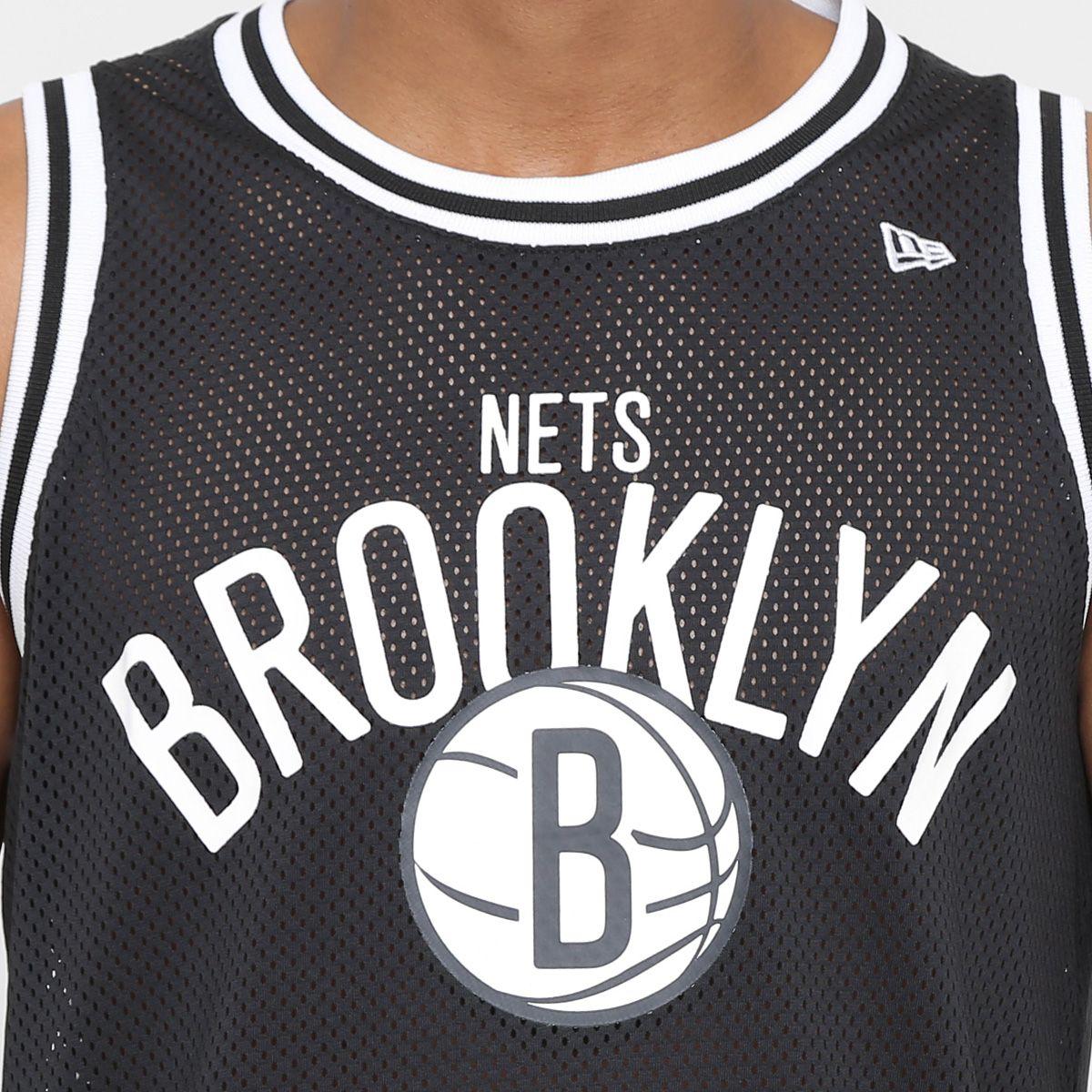 a979c08b48 Camiseta Regata NBA Brooklyn Nets New Era Jersey Game Masculina ...
