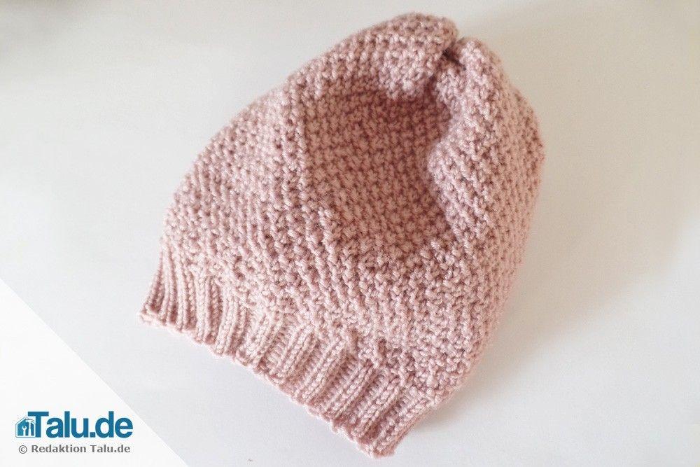Mütze stricken - kostenlose Strickanleitung für Anfänger - Talu.de