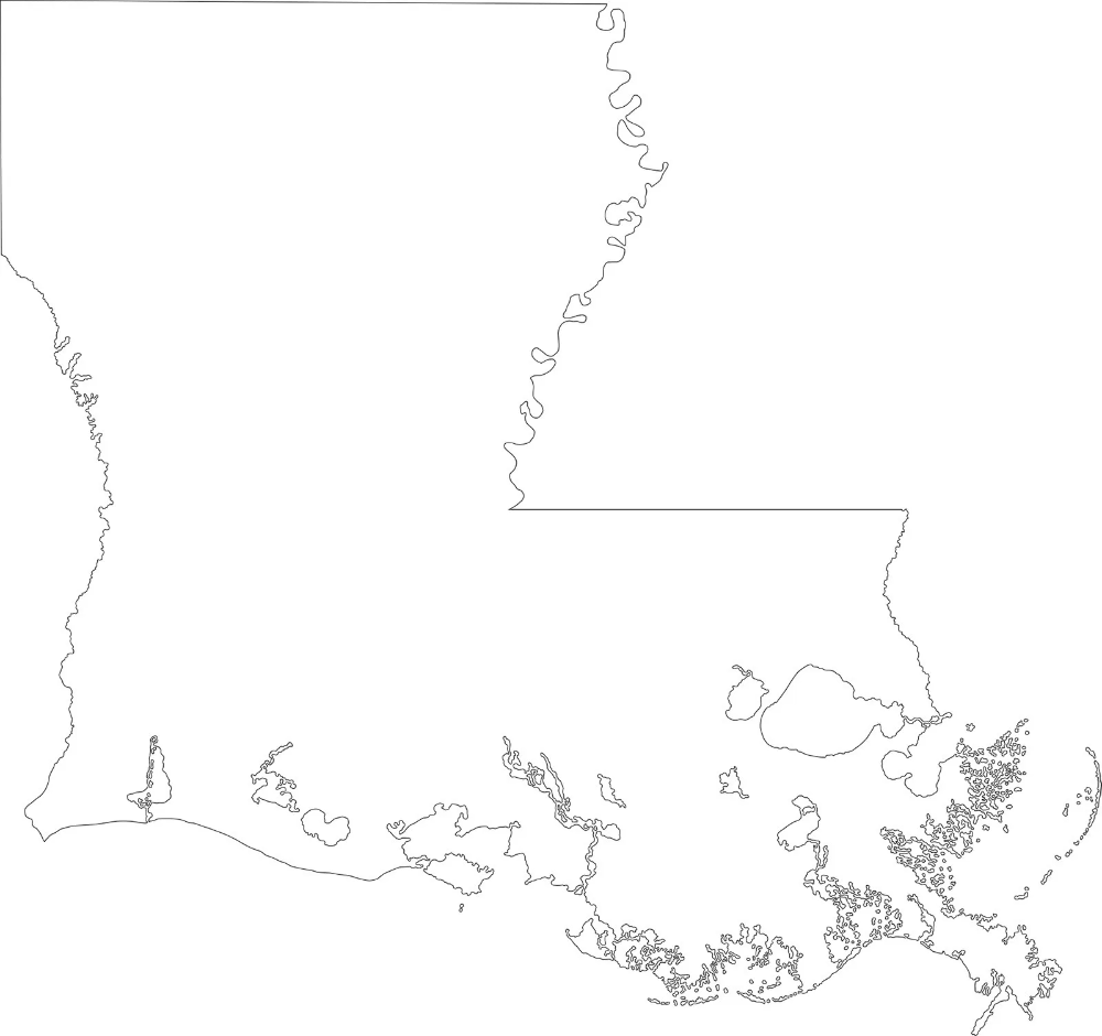 Louisiana Blank Outline Map Large Printable High Resolution And Standard Map Whatsanswer Large Printable Map Louisiana Map