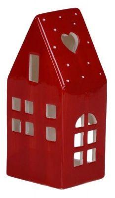 Casetta rossa porta lumino. Misuracm. 8 x 6,5 h 16,5