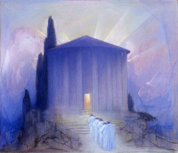 The Temple of Peace by Baron Arild Rosenkrantz :: artmagick.com