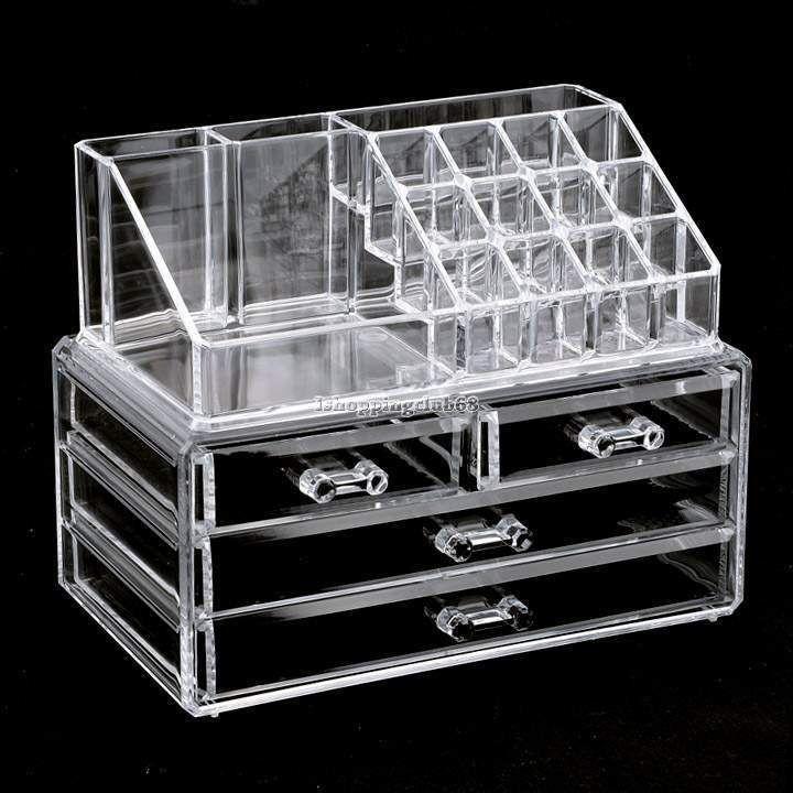 Acrylic Cosmetic Organizer 4 Drawers Drawer Makeup Case Storage