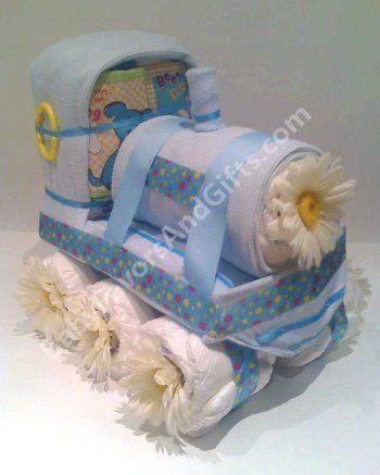 Image Detail For Train Diaper Cake Unique Baby Shower Gift Ideas