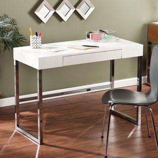 Upton Home Vivica Cream Reptile Contemporary Desk Overstock