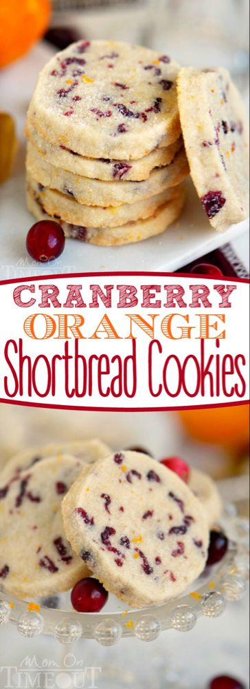 Cranberry Orange Shortbread Cookies - Mom On Timeout