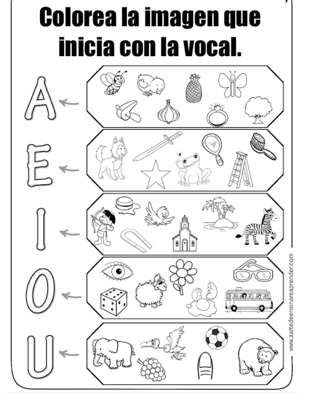 Actividades Para Aprender Vocales Vowels Worksheet