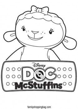 Free Doc Mcstuffins Coloring Pages Doc Mcstuffins Party