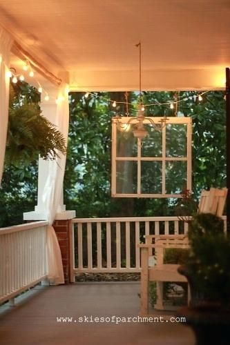 FRONT PORCH STRING LIGHTS - Google Search #frontporchideascurbappeal