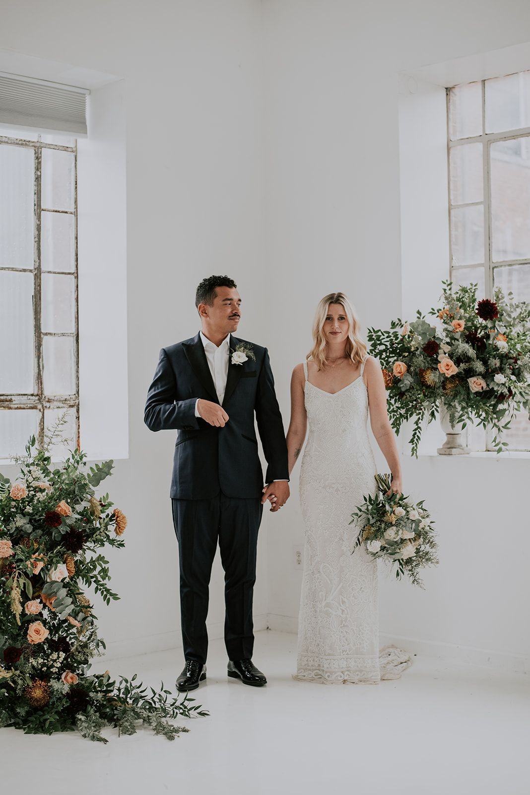 Behind The Scenes Our Nyc Fall Styled Shoot Purple Wedding