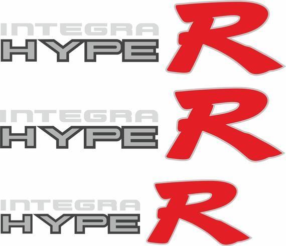 "JDM Honda Acura Integra Type R DC2 Custom ""Hype R"