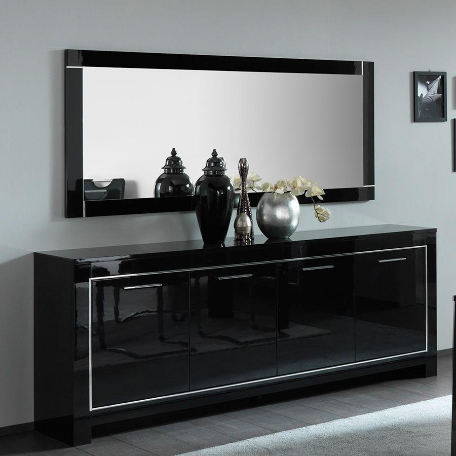 meuble bahut noir laque design moda 2