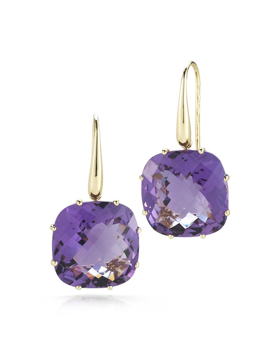 Ipanema Amethyst Earrings Roberto Coin Goldcasters