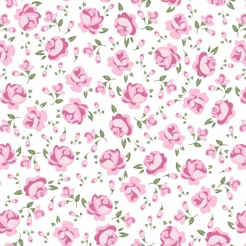 Papel de parede floral rosas 41 papel decorativo paredes - Papel de pared decorativo ...
