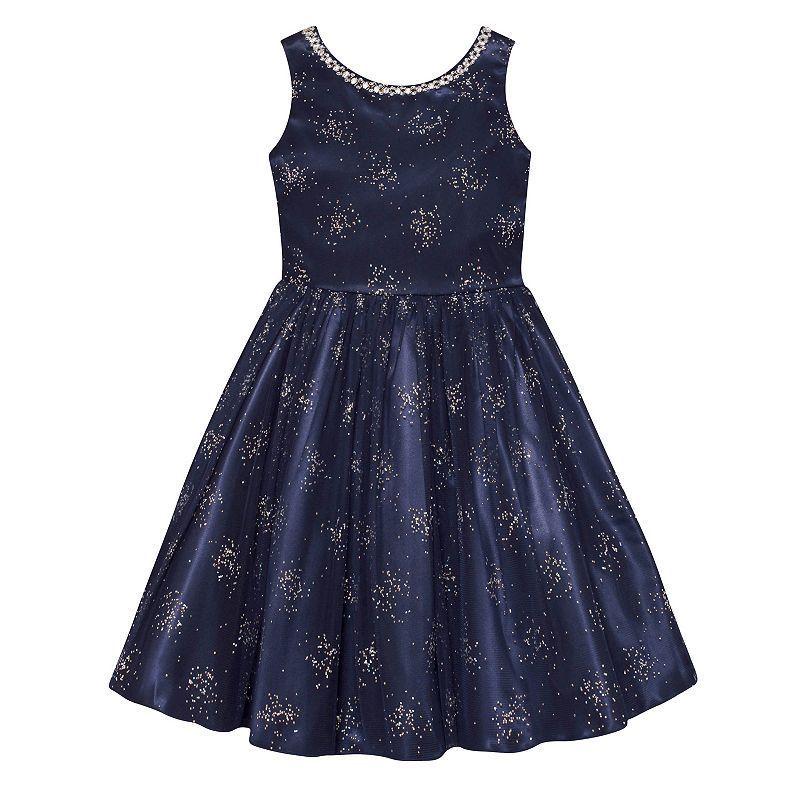 Girls Plus Size American Princess Glitter Firework Dress Size 12 1