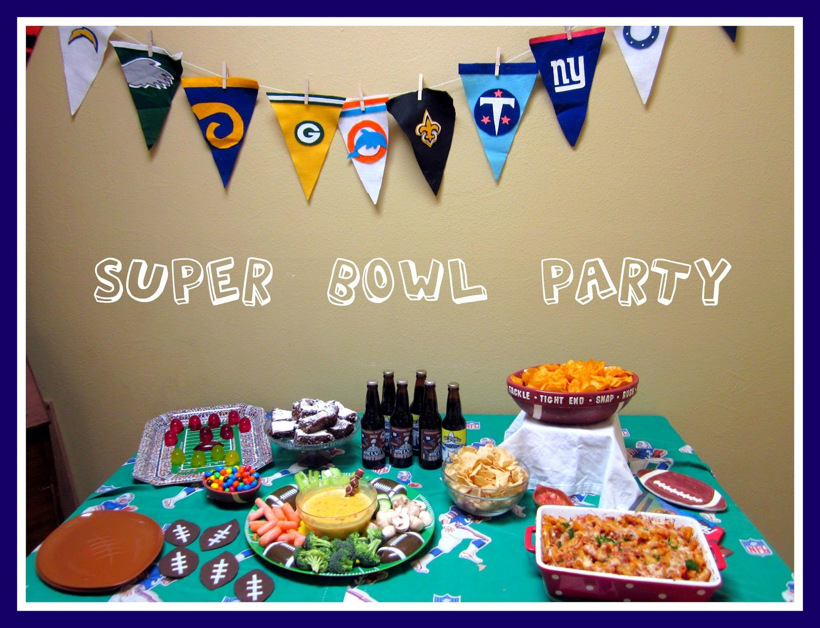 sunshine birthday ramblings minute last decorations super football superbowl decor the bowl party state ideas from