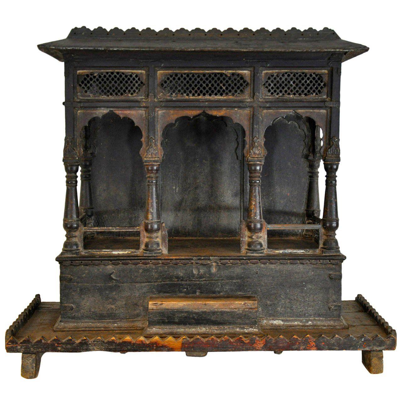 Indian shrine designdreams black and gold pinterest small doors