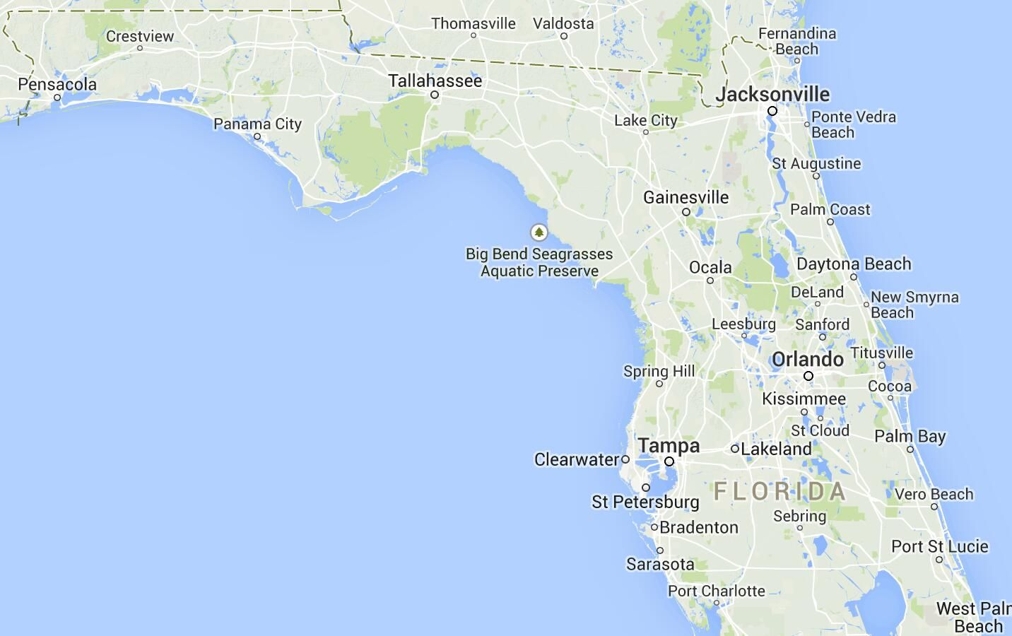 Map Of Florida Spring Locations Florida Springs Map Florida S