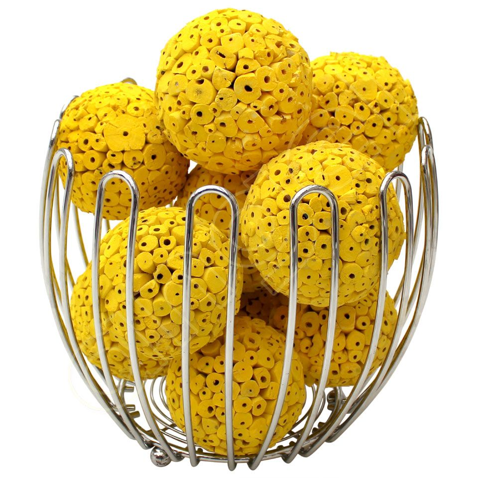 Decorative Bowl Filler Balls Yellow Large Decorative Ballsangel Aromatics  Available From