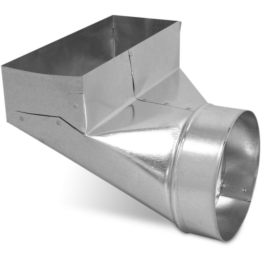 Imperial 12 In X 4 In X 6 In Galvanized Steel 90 Degree Register Duct Boot Lowes Com Flexible Duct Hvac Duct Galvanized Steel
