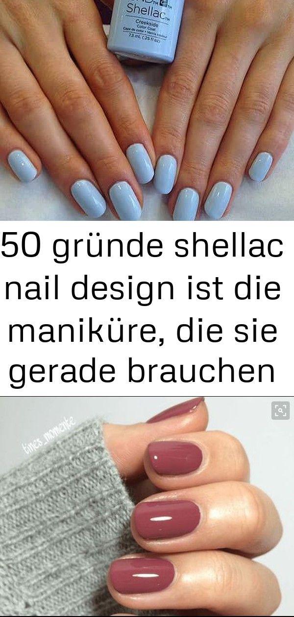 50 Gründe Shellac Nail Design ist die Maniküre die Sie