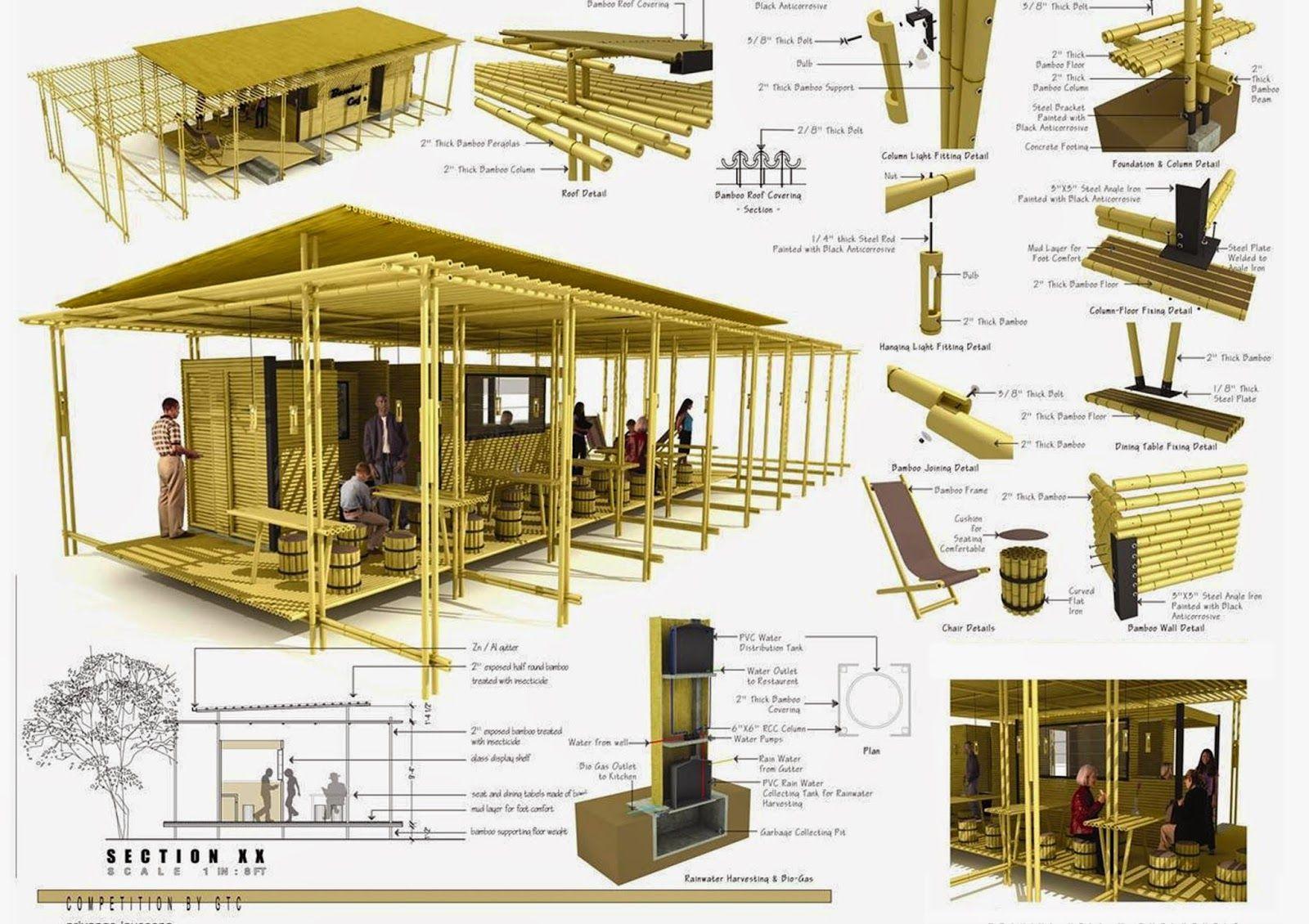 Detalles estructura de bambu buscar con google bamboo Proyectos en madera gratis